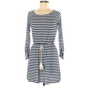 Love Culture Striped Rope Tie Casual Dress Small